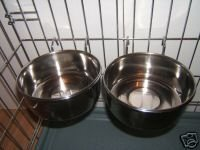 2-Stainless-Steel-Rosewood-Dog-Bowls-For-Cage-Crate-Hook-0