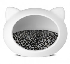 Guisapet-Cave-pet-bed-for-cats-dogs-White-with-animal-print-cushion-0-234x212